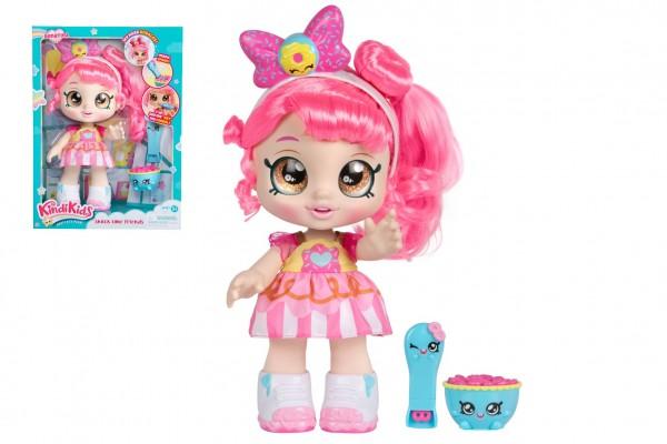TM Toys Panenka Donatina - Kindi Kids 27cm plast s kývající hlavou pevné tělo kloubová s doplňky v krab.