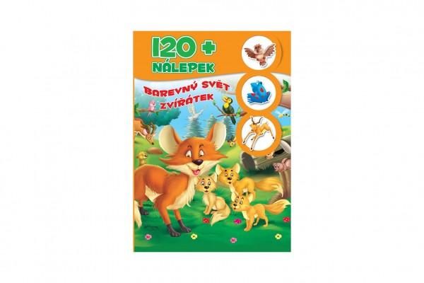 FONI Book Knížka se samolepkami 120+ Barevný svět zvířátek CZ verze 21x30cm