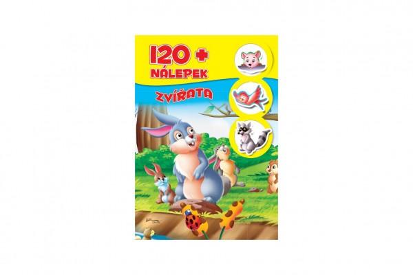 FONI Book Knížka se samolepkami 120+ Zvířata CZ verze 21x30cm