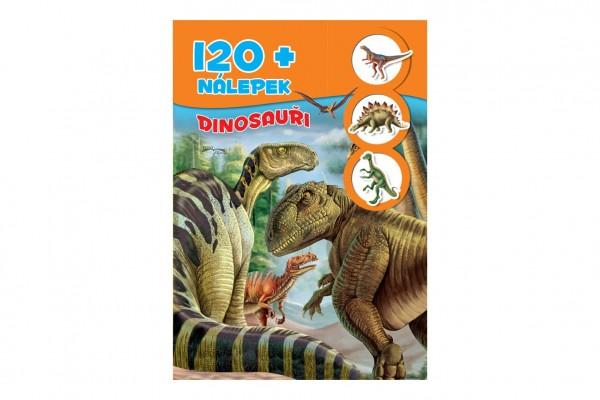 FONI Book Knížka se samolepkami 120+ Dinosauři CZ verze 21x30cm