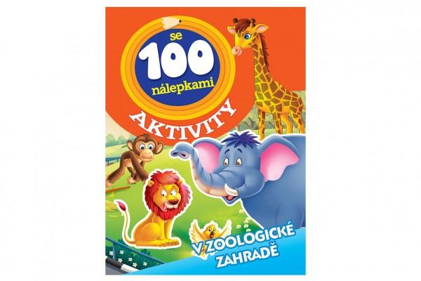 FONI Book Aktivity Zvířata v ZOO se 100 samolepkami CZ verze 21x28cm