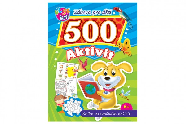 FONI Book Pracovní sešit 500 zábavných aktivit CZ verze 21x28cm