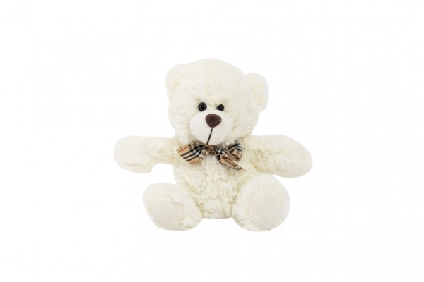 Teddies Medvěd sedící s mašlí plyš 18cm 0+