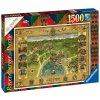 Puzzle Mapa Bradavic 1500 dílků