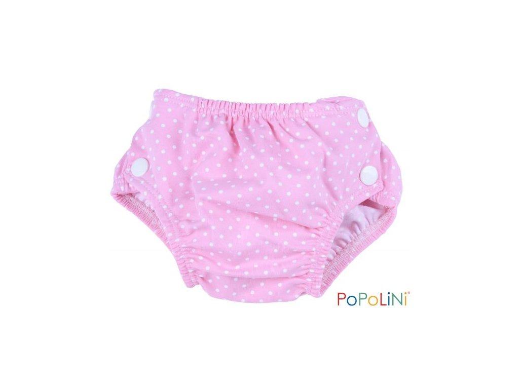 Popolini Plavky Růžové puntíčky