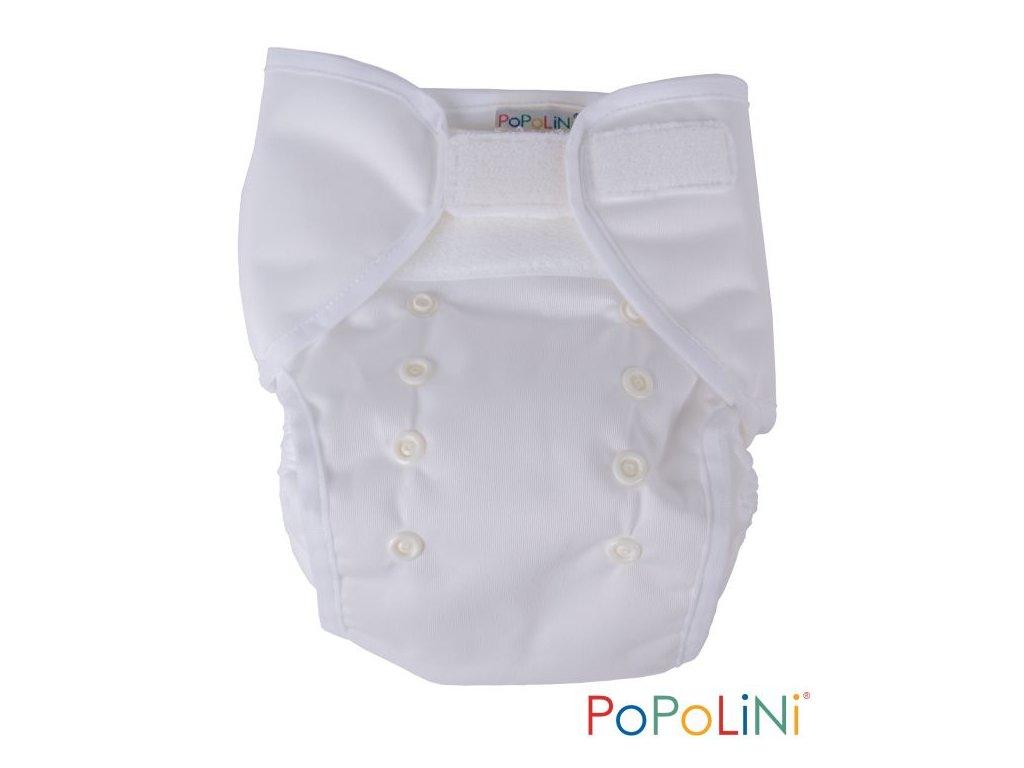 Popolini Jednovelikostní svrchní kalhotky EasyWrap Bílá (SZ,PUL)
