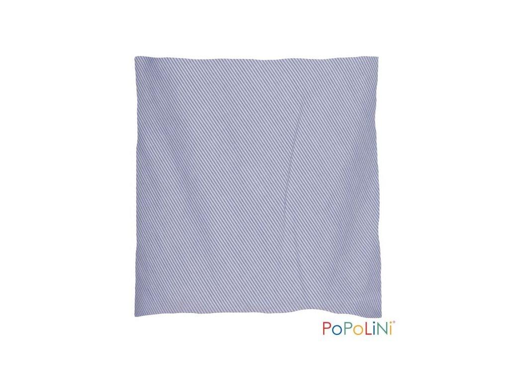 Popolini Třešňový nahřívací polštářek Modrý proužek