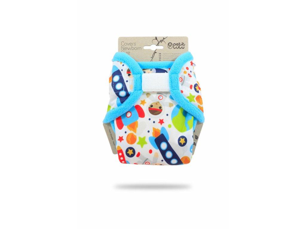Petit Lulu Svrchní kalhotky na pleny Novorozenecké KOSMONAUTI (tyrkys) (SZ,PUL)