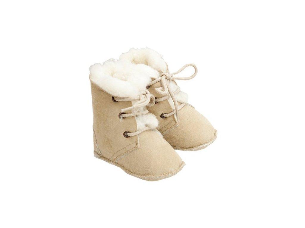 Fellhof Maxi - boty z jehněčí kůže vel. 16 (0-6 měs)