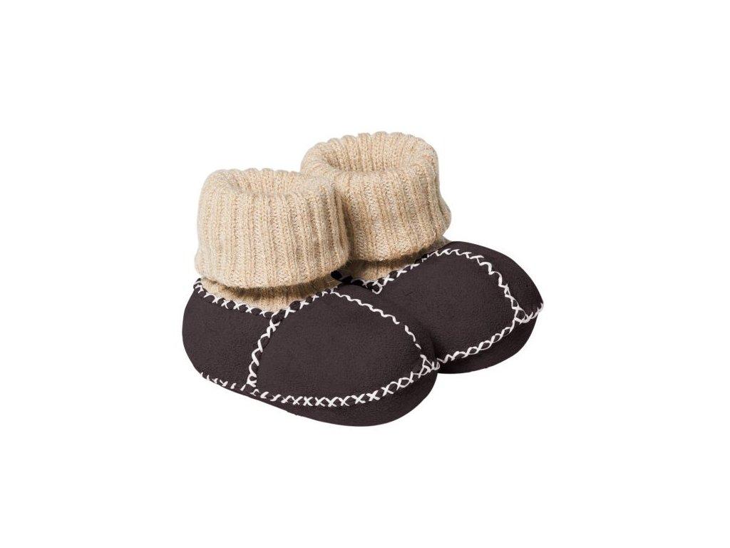 Fellhof Balu- boty z jehněčí kůže tmavě hnědé vel. 20 (12-18 měs)