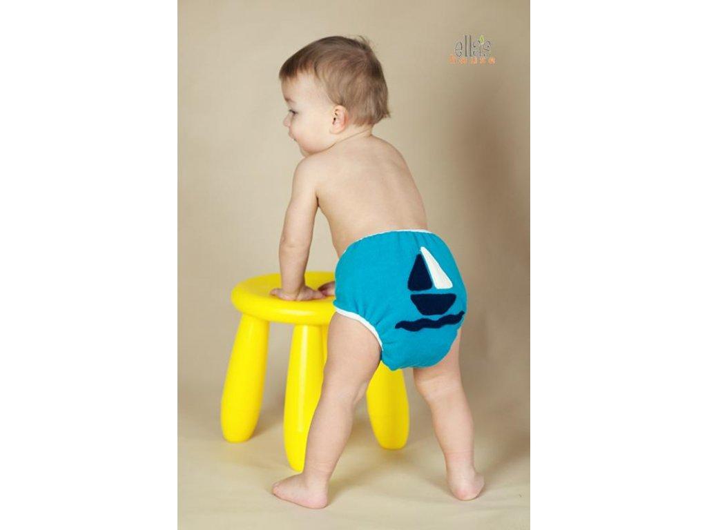 Ella´s House Svrchní kalhotky Bum wrap design Ocean ship vel.S (loď)