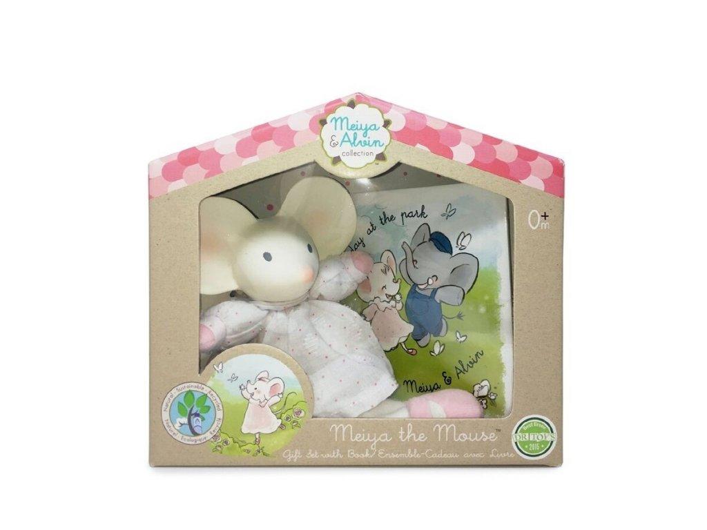 MEIYA&ALVIN Dárkový set knížka + hračka myška Meiya