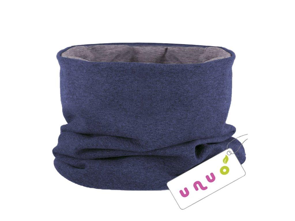 Unuo nákrčník UNI Jeans modrý melír