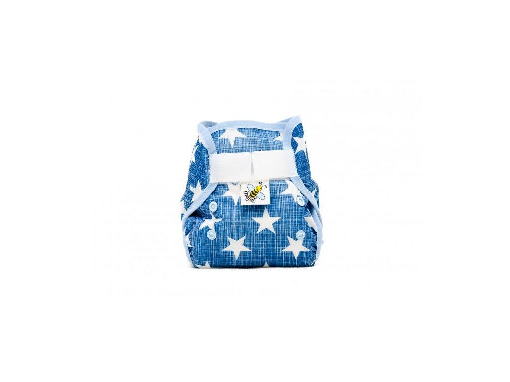 5775 pul svrchni kalhotky hvezdicky na modre mini novorozenecke