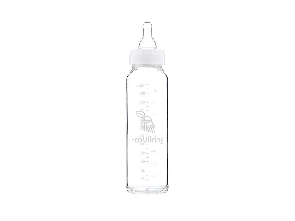 EcoViking Skleněná borosilikátová lahvička 240 ml 1ks