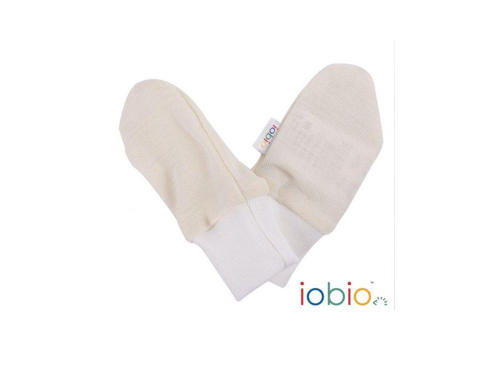Iobio rukavice pro novorozence vlna/hedvábí