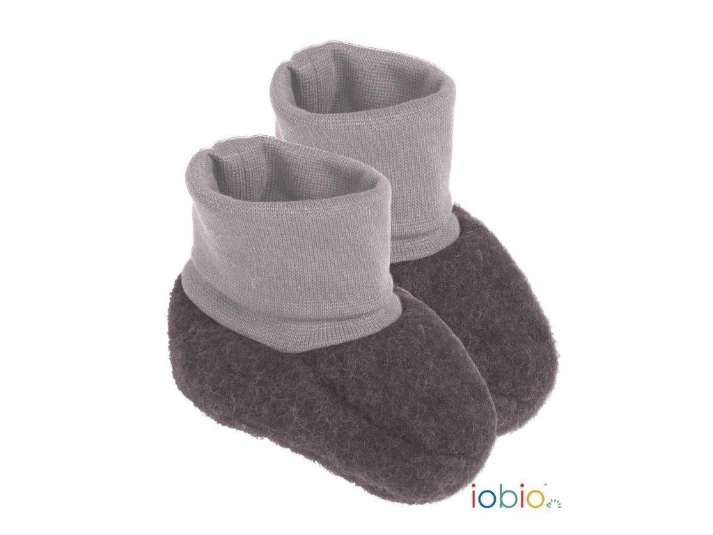 Iobio botičky pro novorozence z vlněného flísu vel. 0