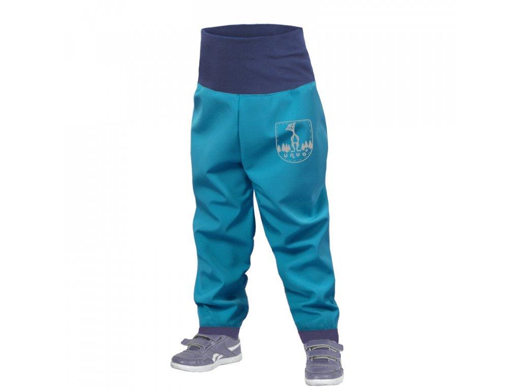 10616 8 unuo batoleci softshellove kalhoty bez zatepleni modrozelena aqua