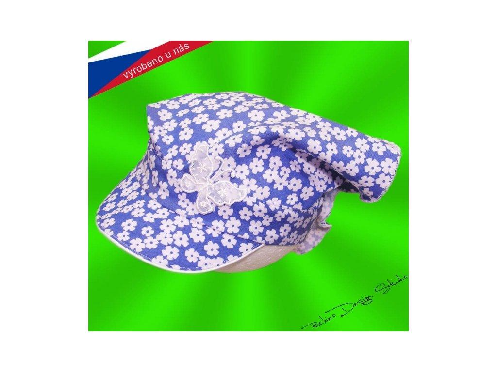 Rockino Letní šátek kytičky na modré 3967