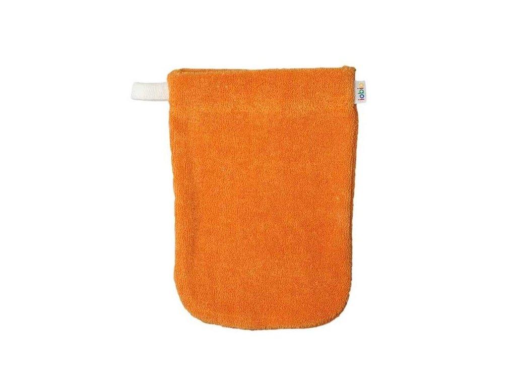 Popolini froté žínka z biobavlny oranžová