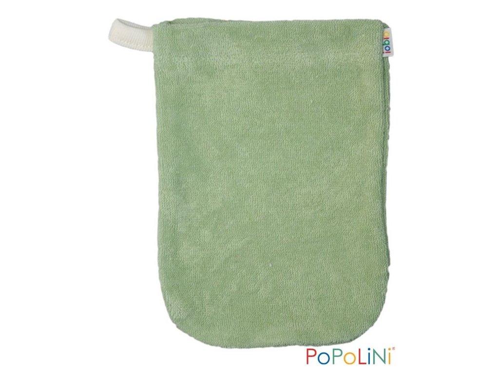 Popolini froté žínka z biobavlny Jablko (zelená)