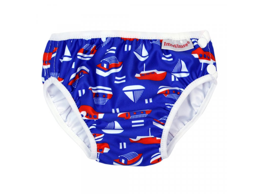 Swim diaper badbyxa blue sailor 1