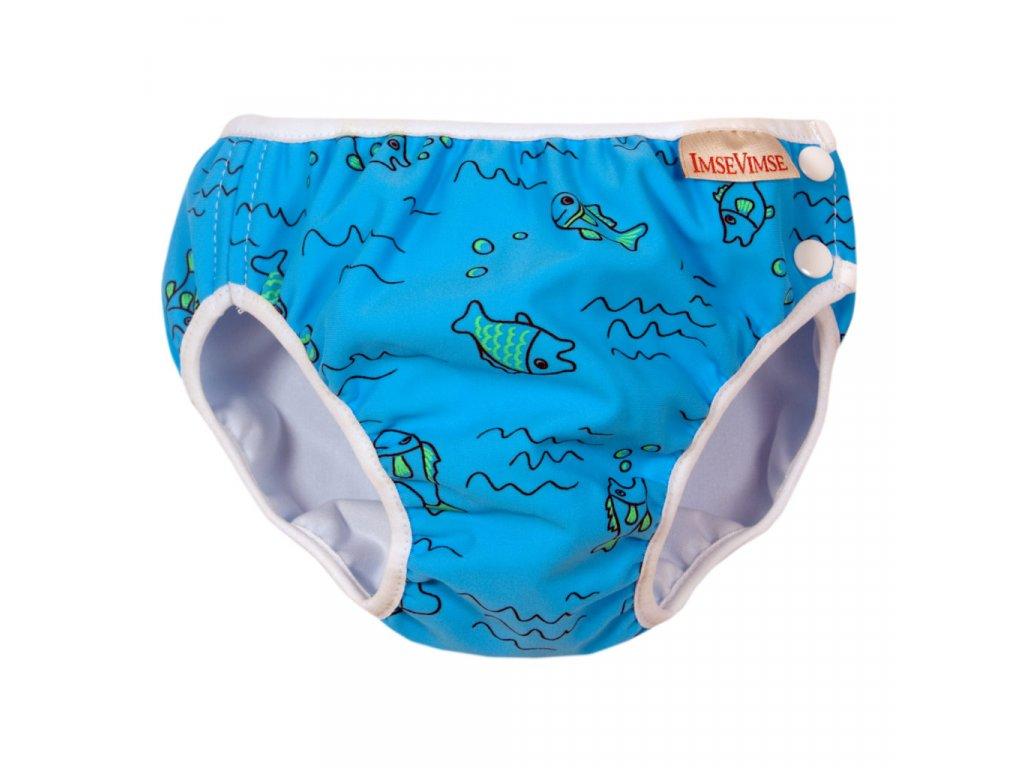 Swim diaper badbyxa turquoise fish 1