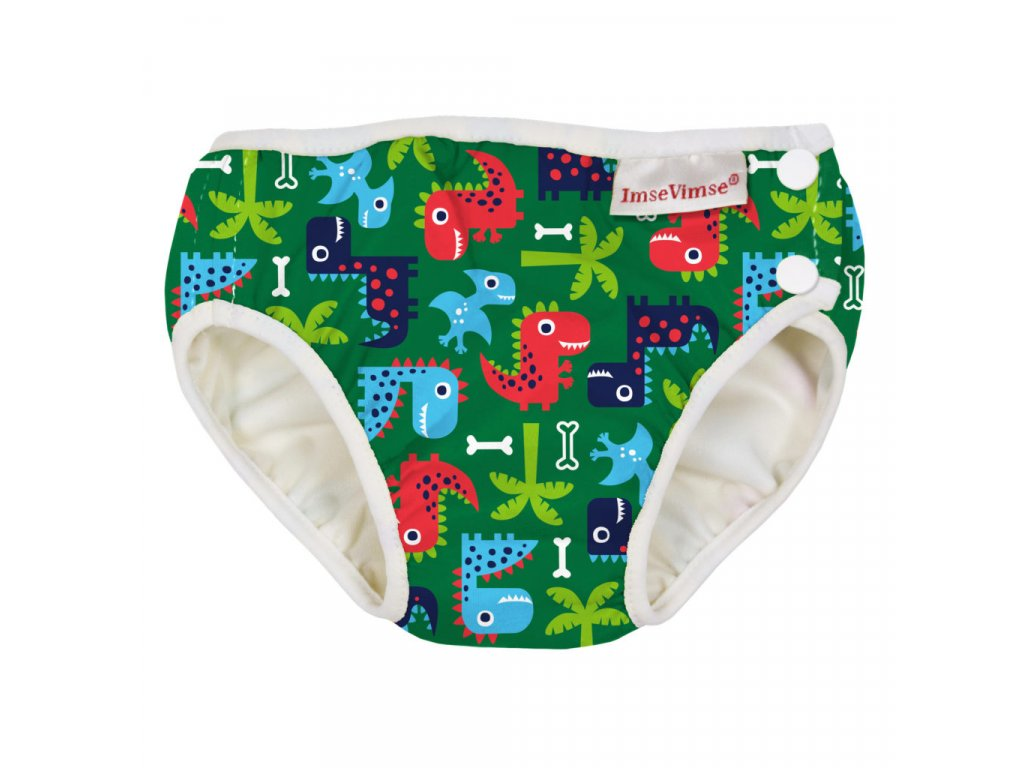 Swim diaper badbyxa green dino 1