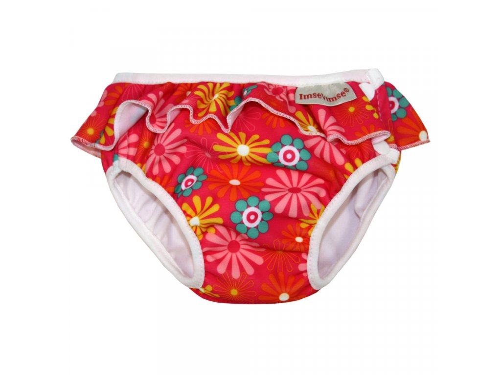 Swim diaper badbyxa pink daisy 1