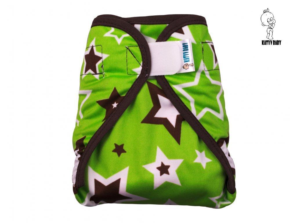 Katyv Baby Novorozenecké svrchní kalhotky - Hvězdy s hnědou  (SZ,PUL)