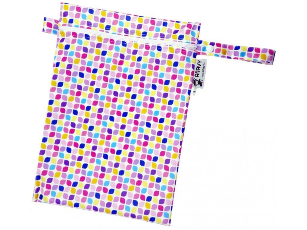 Anavy Pytel na pleny Mozaika (růžová, fialová) vel.M
