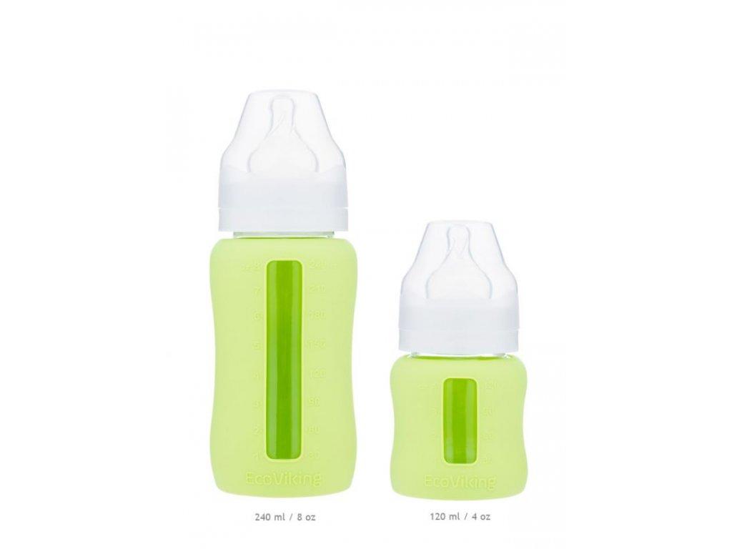 EcoViking Skleněná borosilikátová lahvička širší 240 ml 1ks