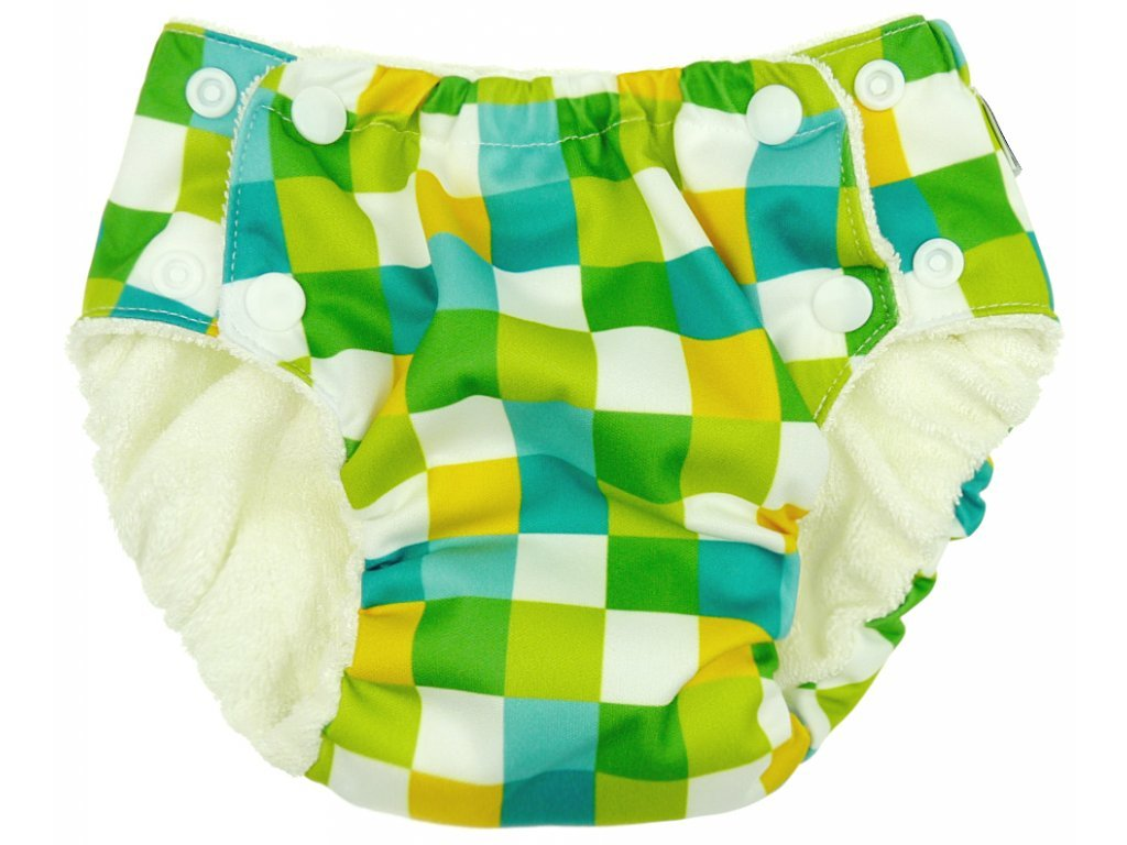 Anavy Tréninkové kalhotky ČTVEREČKY (zelená)