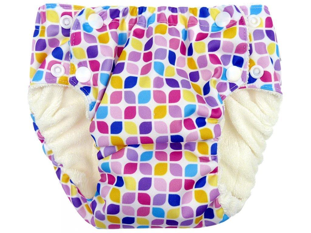Anavy Tréninkové kalhotky MOZAIKA (růžová, fialová) vel.M