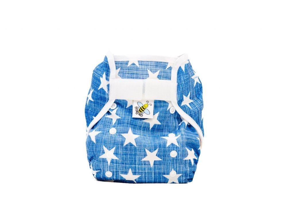 6303 1 pul svrchni kalhotky hvezdicky na modre xl