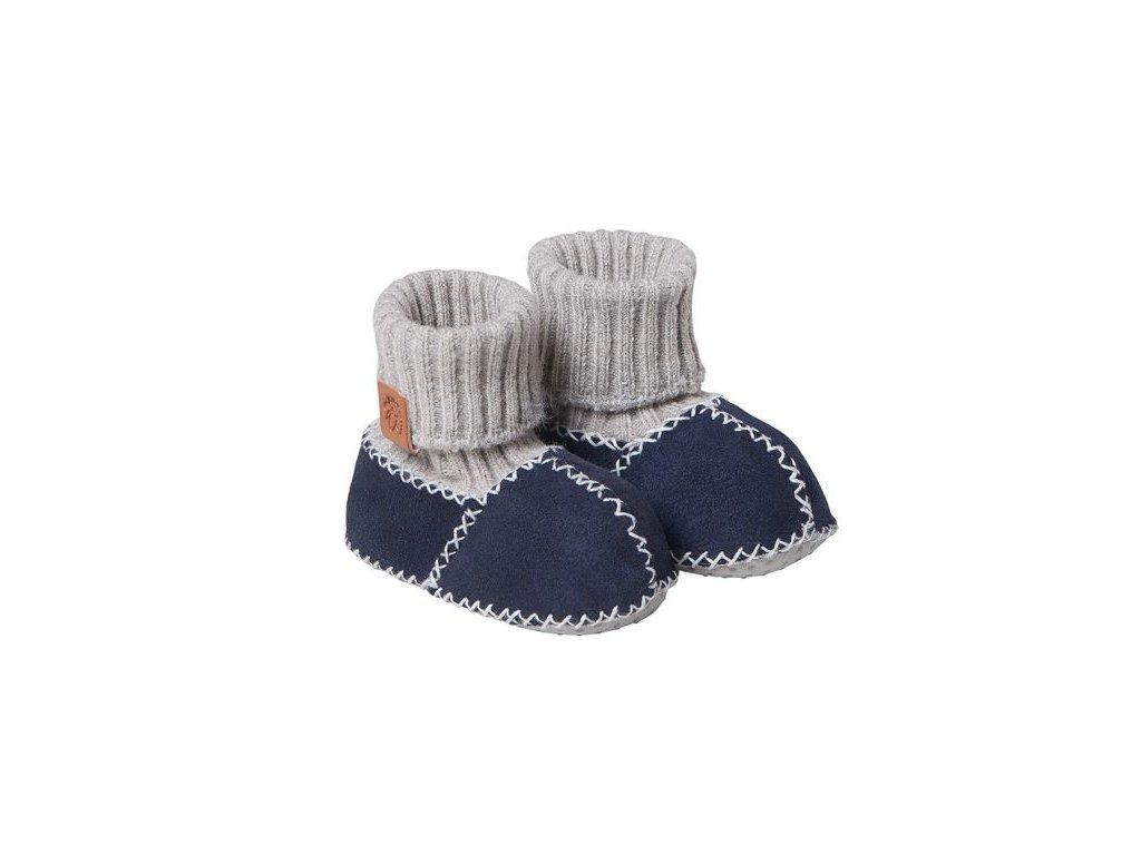 Fellhof Balu- boty z jehněčí kůže námořnické  vel. 16 (0-6 měs)