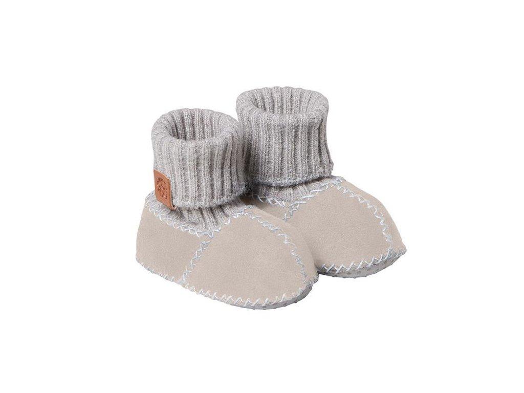 Fellhof Balu- boty z jehněčí kůže hnědé  vel. 16 (0-6 měs)