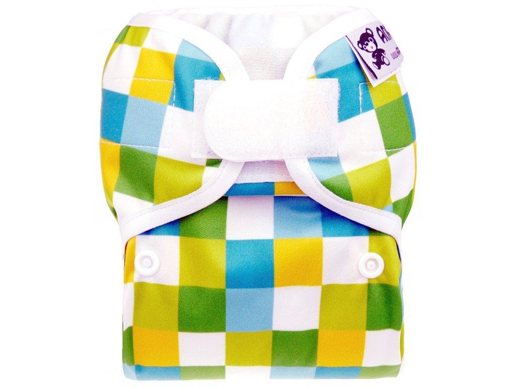 Anavy Svrchní kalhotky na pleny Novorozenecké ČTVEREČKY (SZ, AIR PUL)