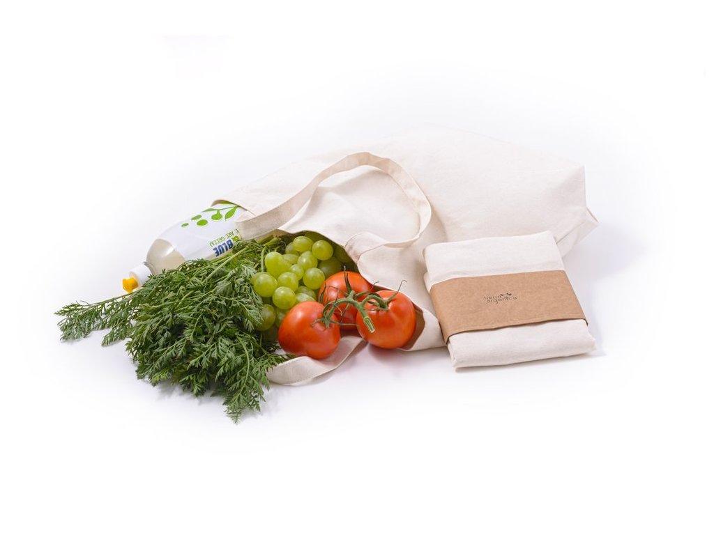 Tierra  Verde Plátěná nákupní taška z biobavlny