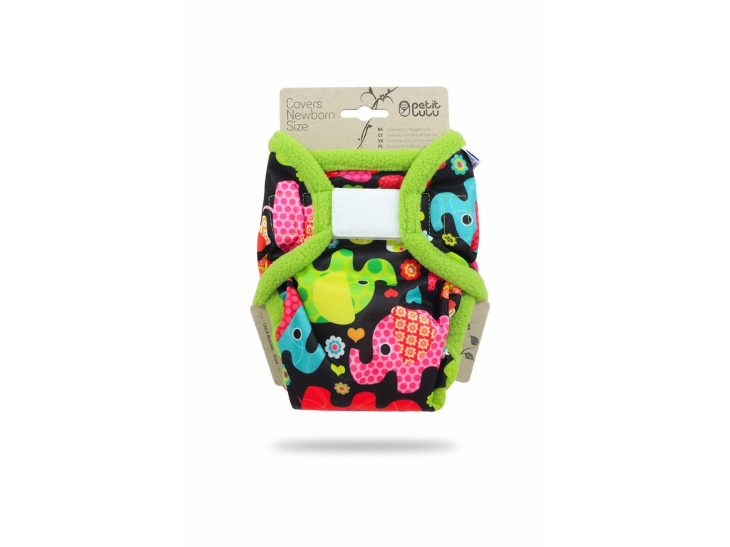 Petit Lulu Svrchní kalhotky na pleny Novorozenecké SLONÍCI (SZ,PUL)