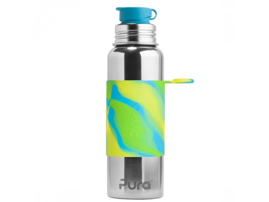 2 Pura nerezova flasa so sportovym uzaverom 850ml Zelena aqua
