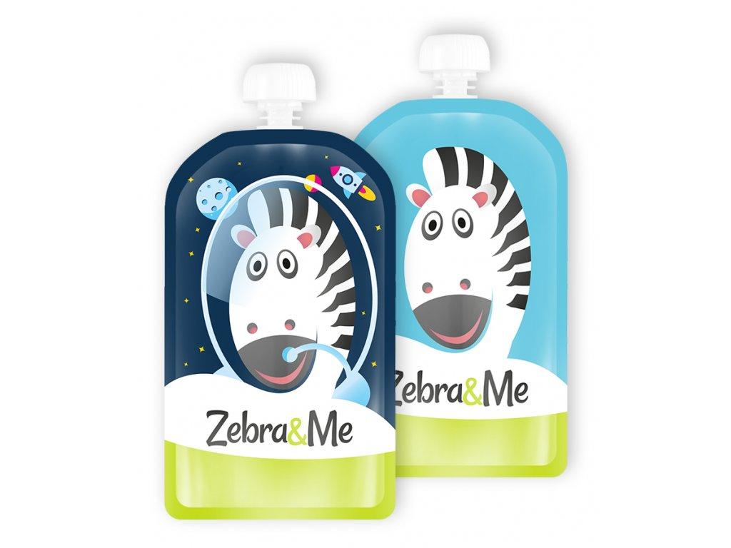 Zebra&Me Kapsička na dětskou stravu 2 ks ASTRONAUT