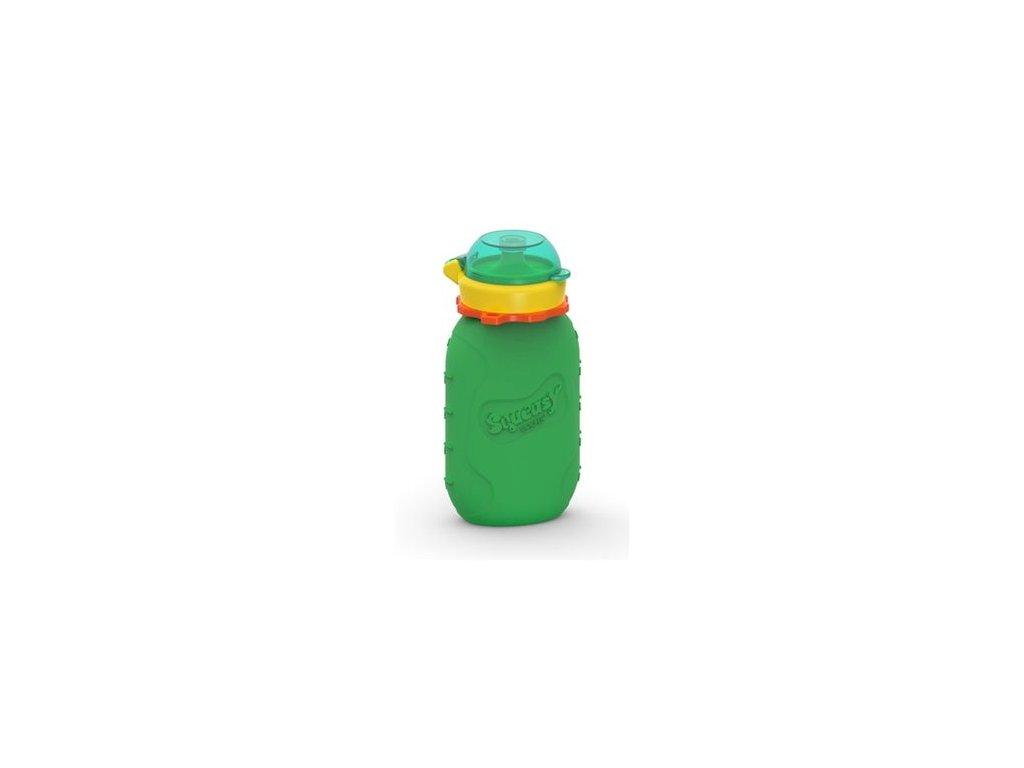 Squeasy Gear silikonová kapsička (lahev) ZELENÁ 180ml