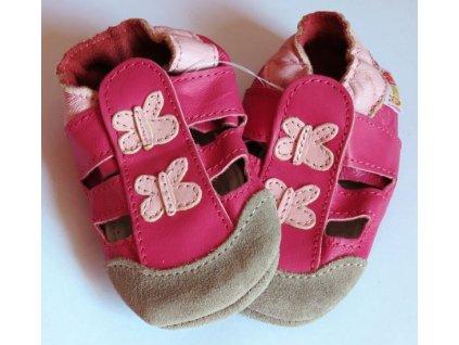 capáčky sandálky motýlek