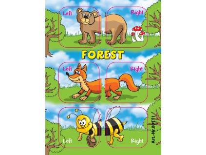Samolepky Edushoe lesní zvířátka