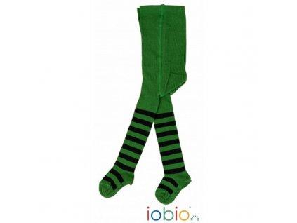 iobio collants bebe en coton bio raye vert bleu