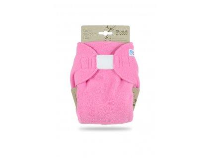 101379 Ruzove svrchni kalhotky novorozenecke flis sz