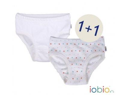 Popolini iobio Dívčí kalhotky, biobavlna 2 ks