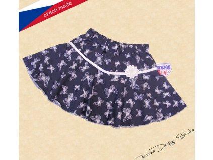 Rockino Dívčí sukně motýlci na modré 8193
