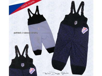 Rockino Dětské nepromokavé zateplené kalhoty s laclem 8122